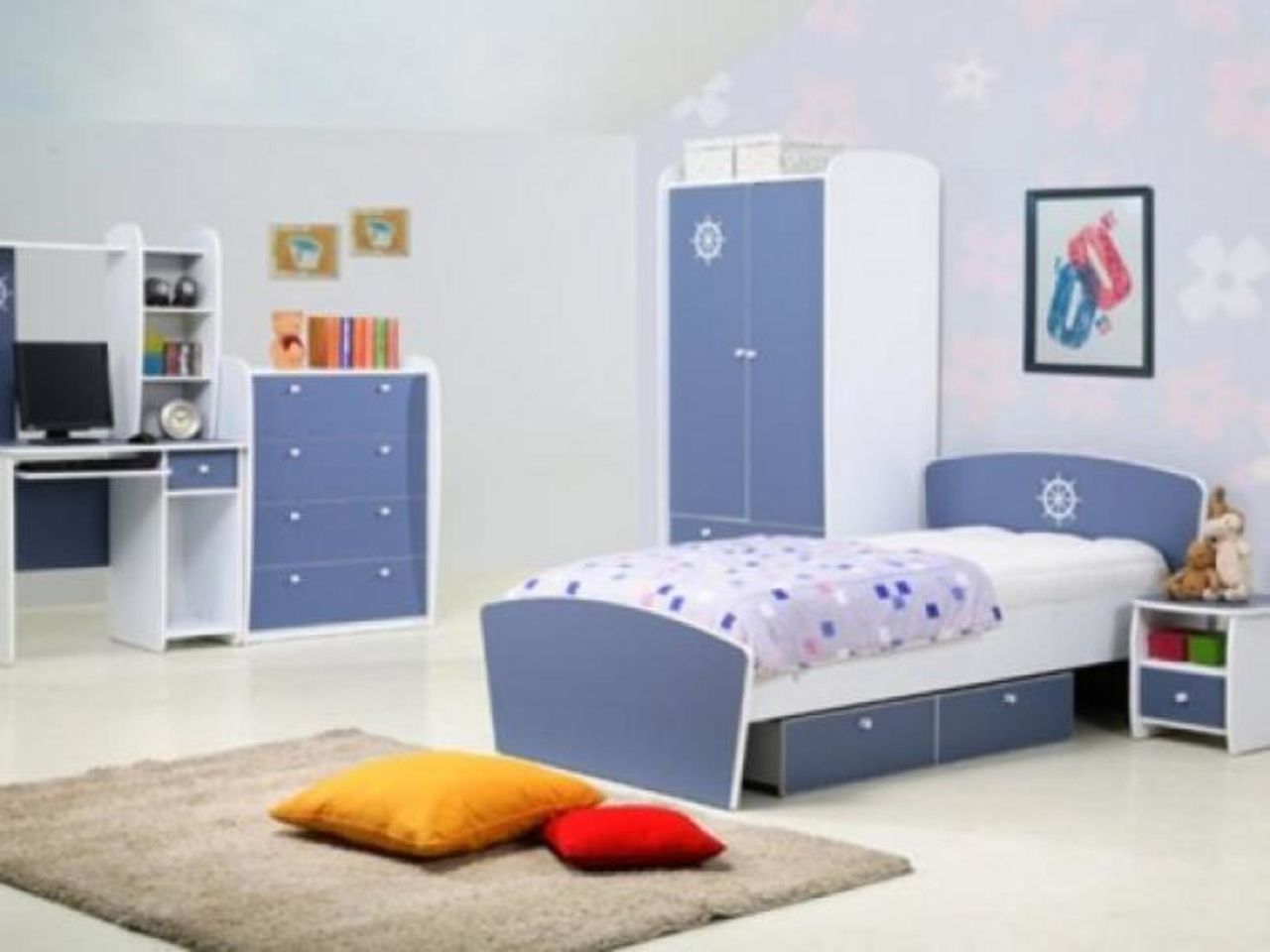 Kidszone Furniture Boys Bedroom Set 12